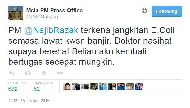 PM Dijangkiti Virus E.Coli