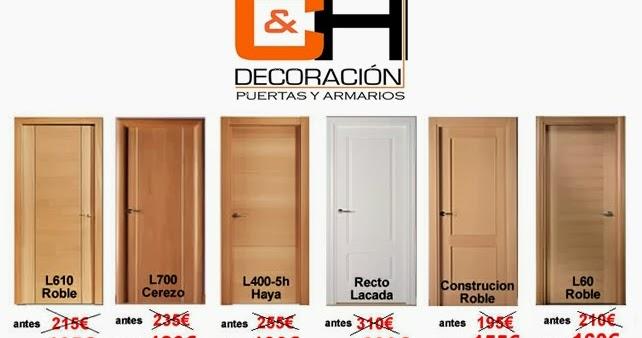 Ch decora puertas cocinas y armarios en madrid ofertas for Ofertas de puertas de interior