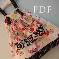 Girls Sizes Madeline Knot Apron Dress--Sewing Pattern Tutorial