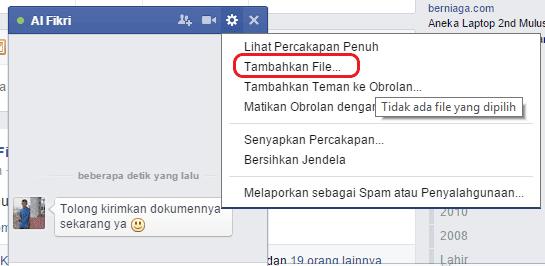 Cara mengirim file di fb