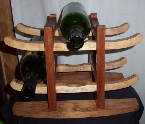 Au naturelle new finds on etsy - Types of beautiful wine racks for your home ...