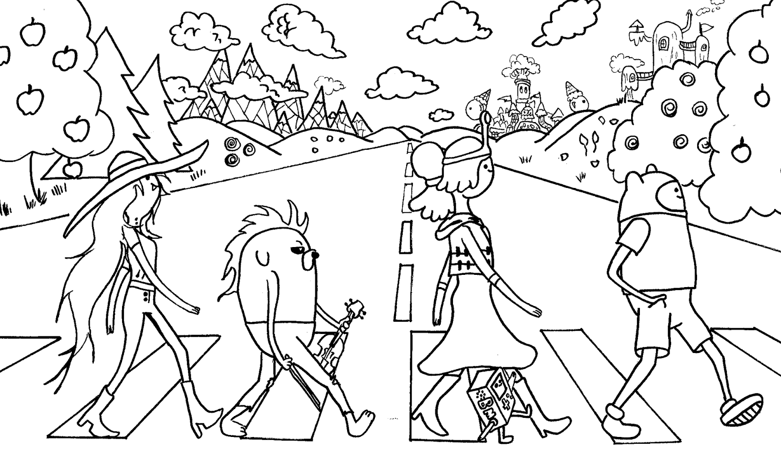 adventure time coloring page coloring draw