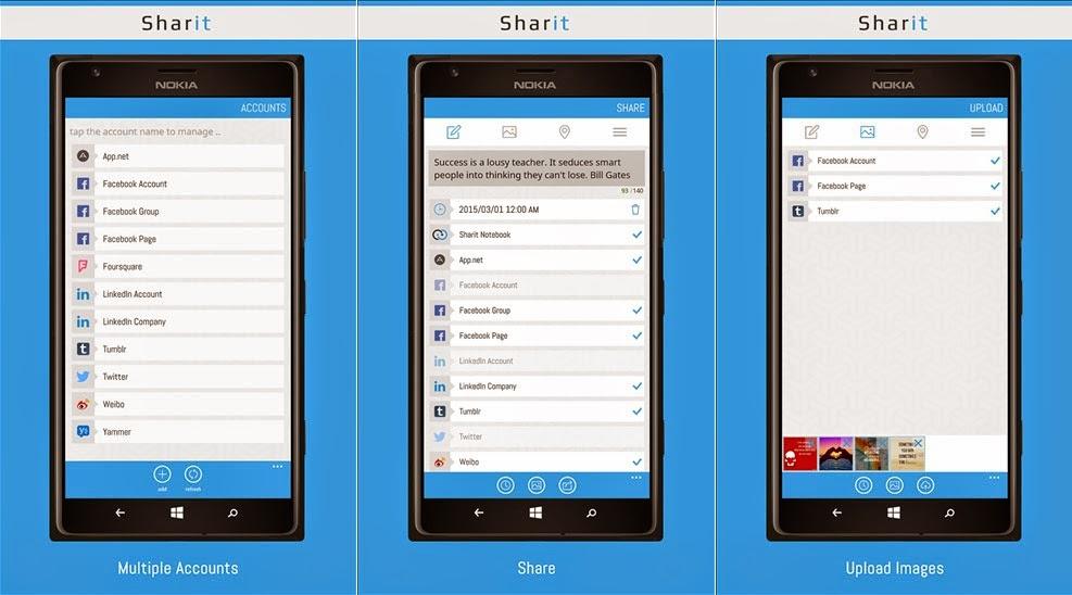Sharit - Organize suas redes sociais no Windows Phone