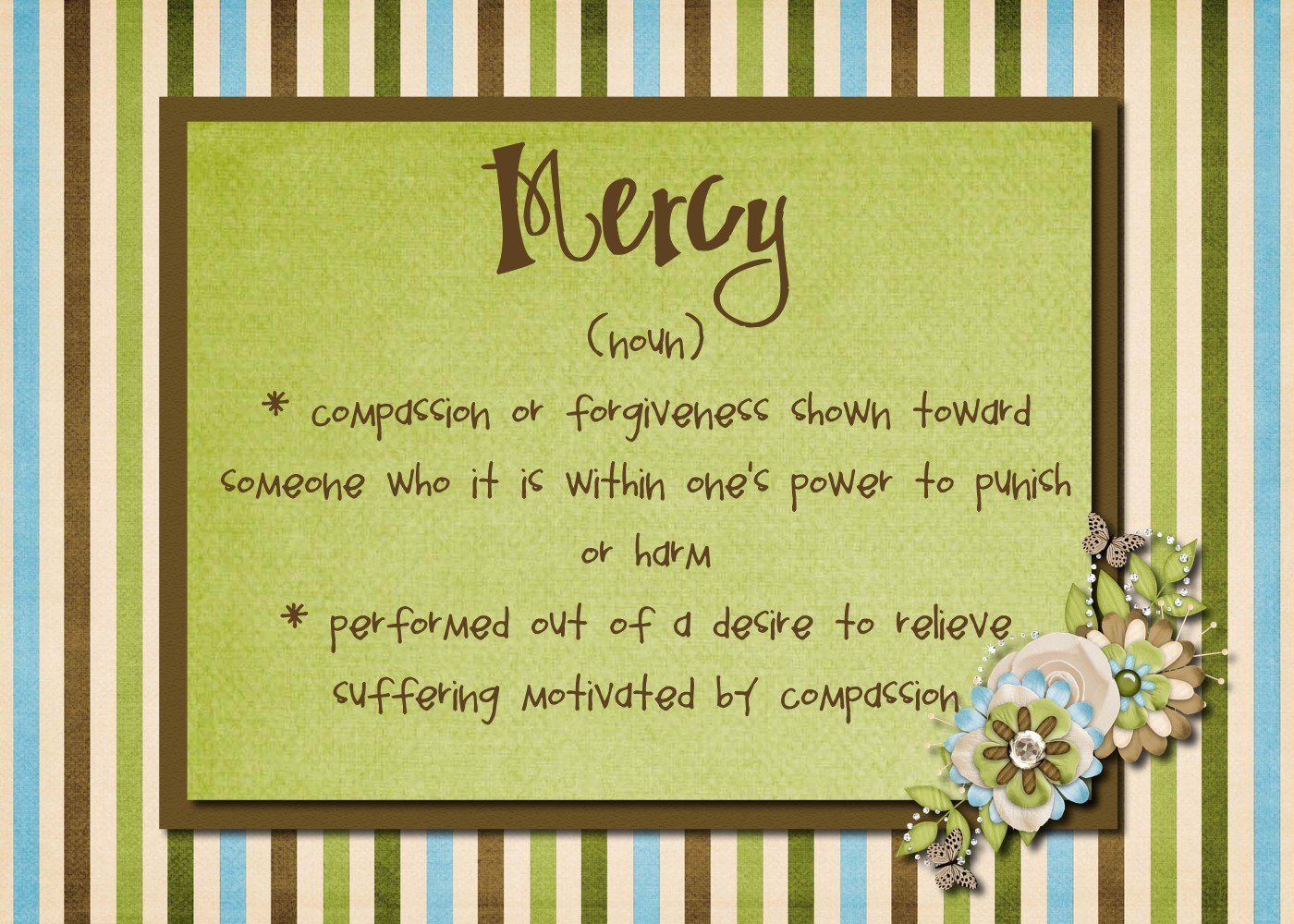 manufacturer's handbook: mercy -- mercy is not something god has