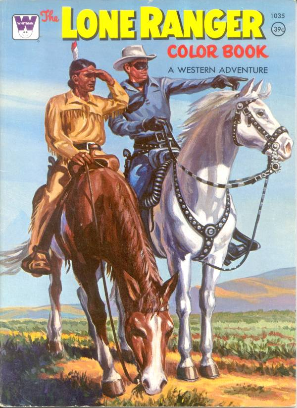 forgotten coloring books the shadow and the lone ranger