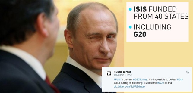 Putin reveals who funds ISIS