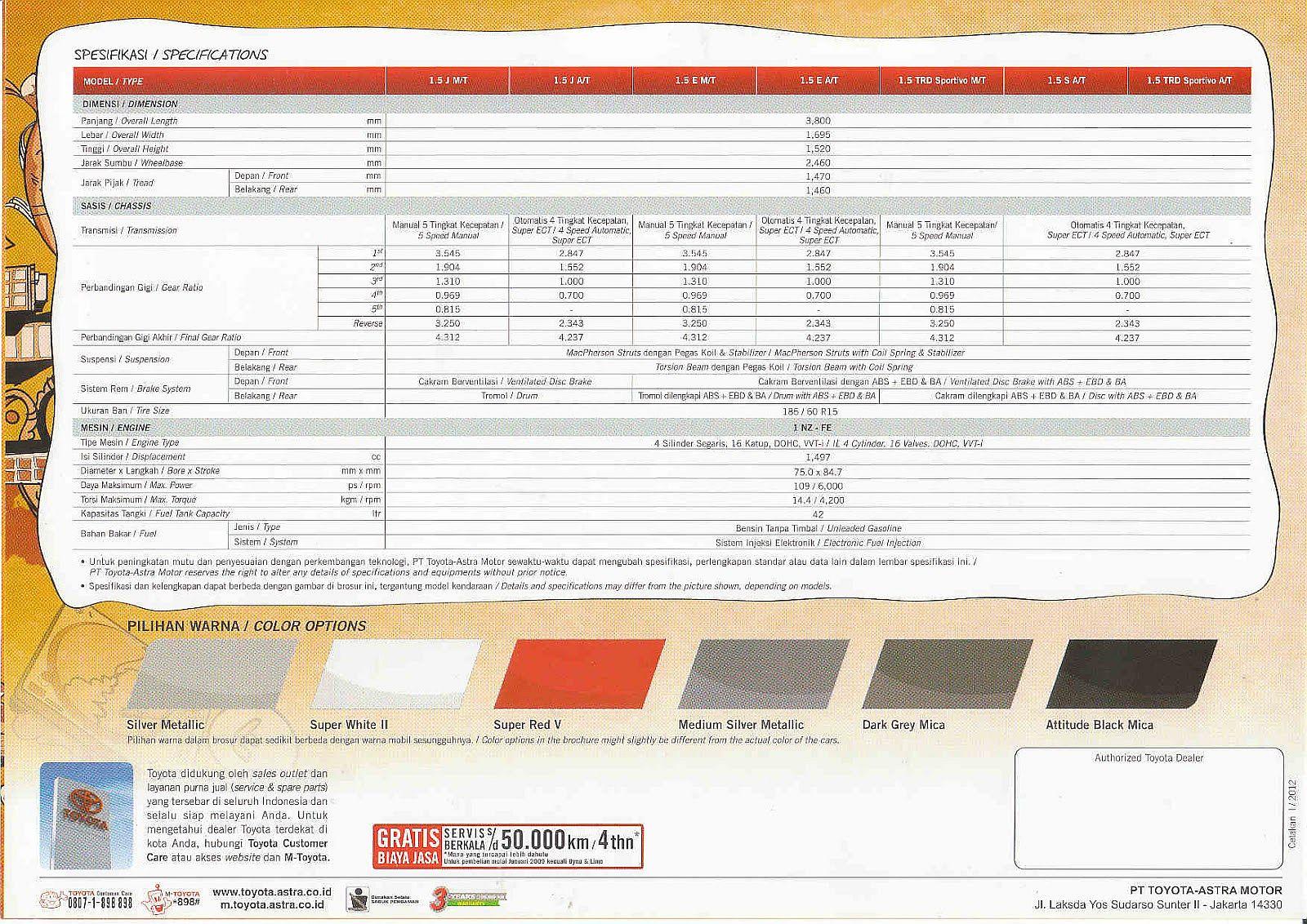 brosur toyota yaris 2012 - dealer toyota bekasi
