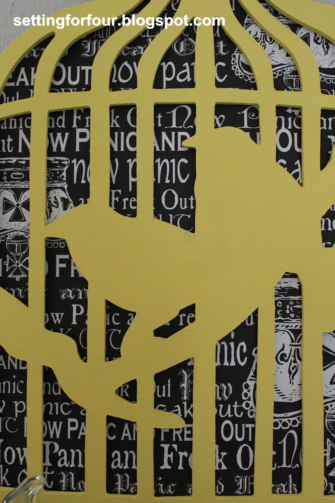Easy DIY Birdcage Art Tutorial - Setting for Four
