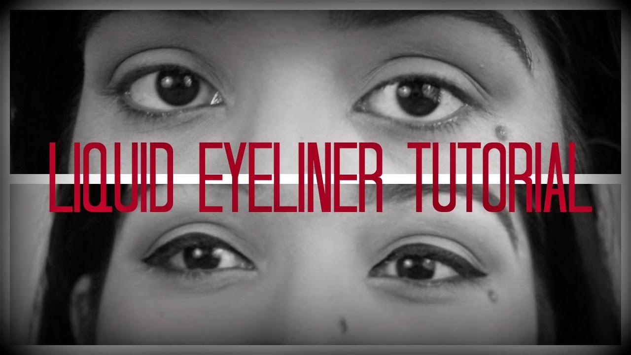MAKEUP TUTORIAL: Liquid Eyeliner!