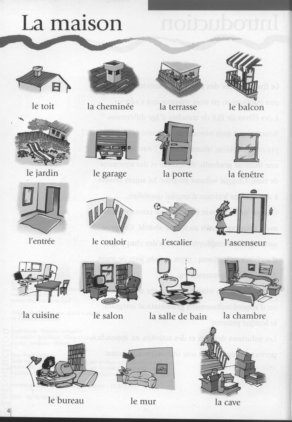 Le cahier de fran ais vocabulaire la maison for La maison des gazons