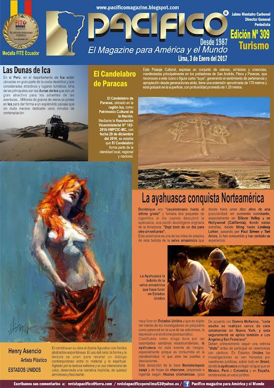 Revista Pacífico Nº 309 Turismo