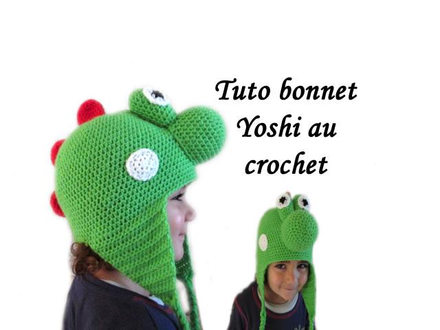 TUTO BONNET YOSHI AU CROCHET