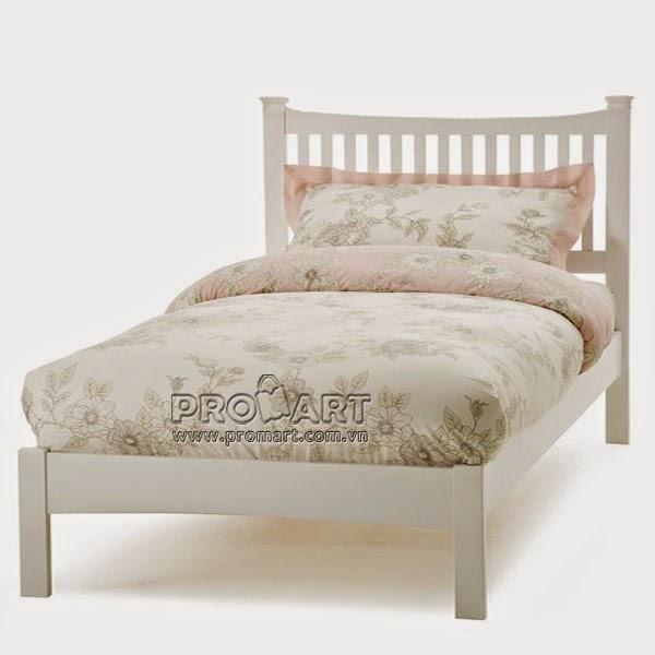Giường đơn Cheshire 1.2m x 2m màu trắng