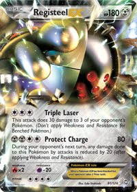 Registeel EX Dragons Exalted Pokemon Card