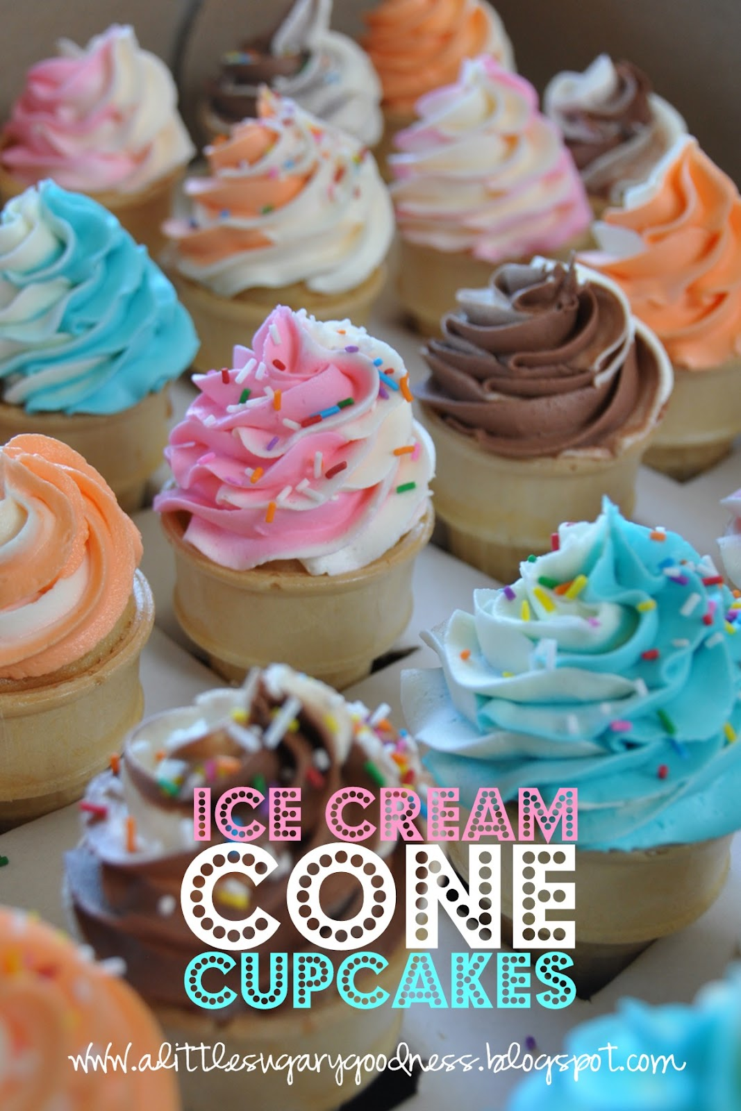 Little Sugary Goodness: Easy Ice Cream Cone Cupcakes