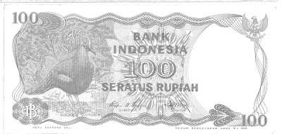 old red Rp100 note