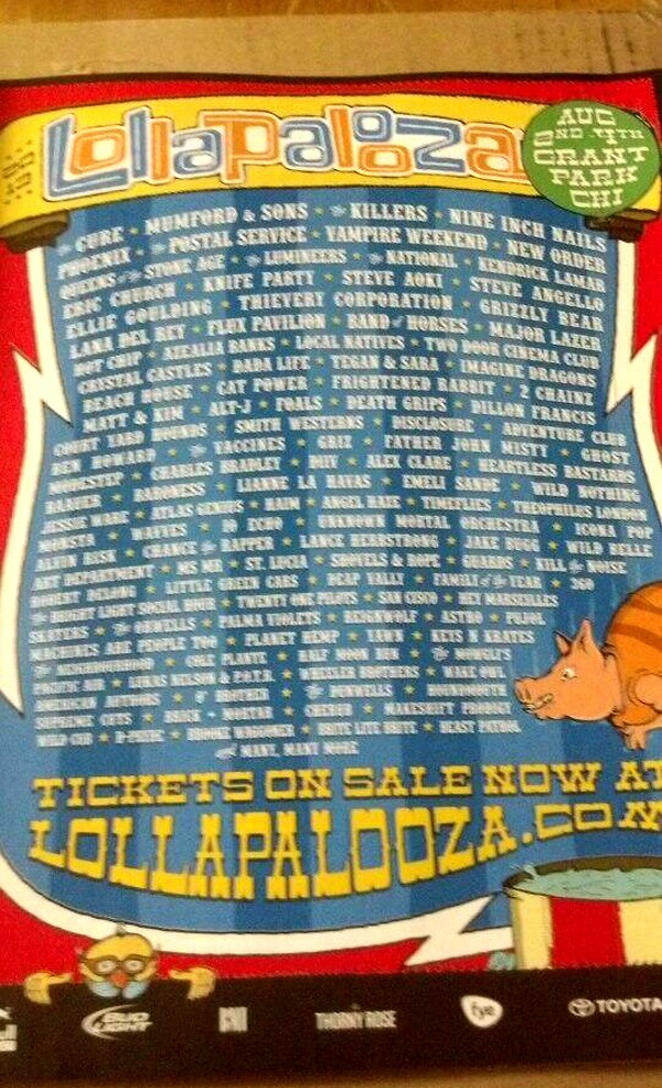 lollapalooza 2013 Lineup - Chicago Music Festival