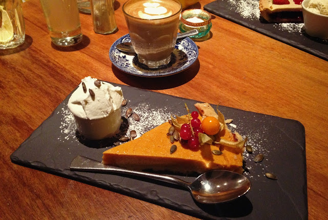 Hendersons Vegan Edinburgh - Gluten Free Pumpkin Pie