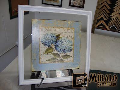 Enmarcado de chapa decorativa sobre vidrio - Enmarcar cuadros ...