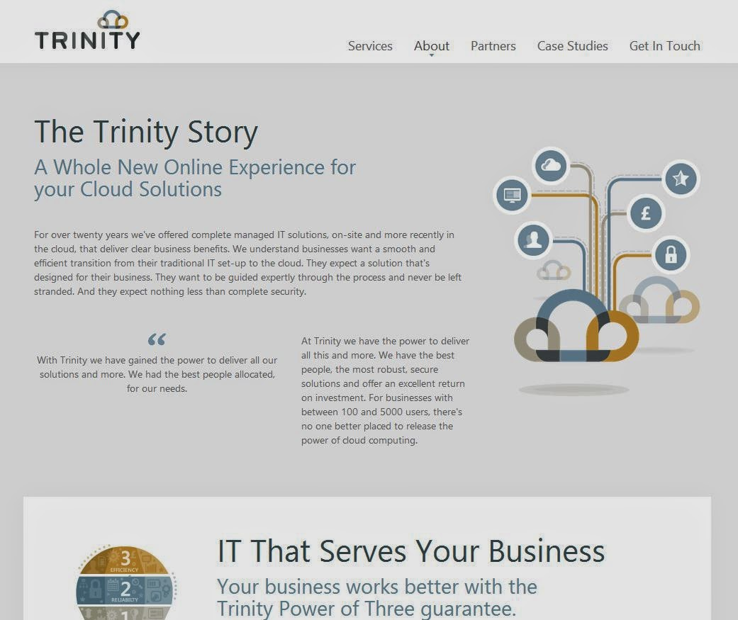 Trinity web site screen shot