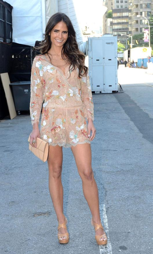 Jordana Brewster New York Fashion Week Dress