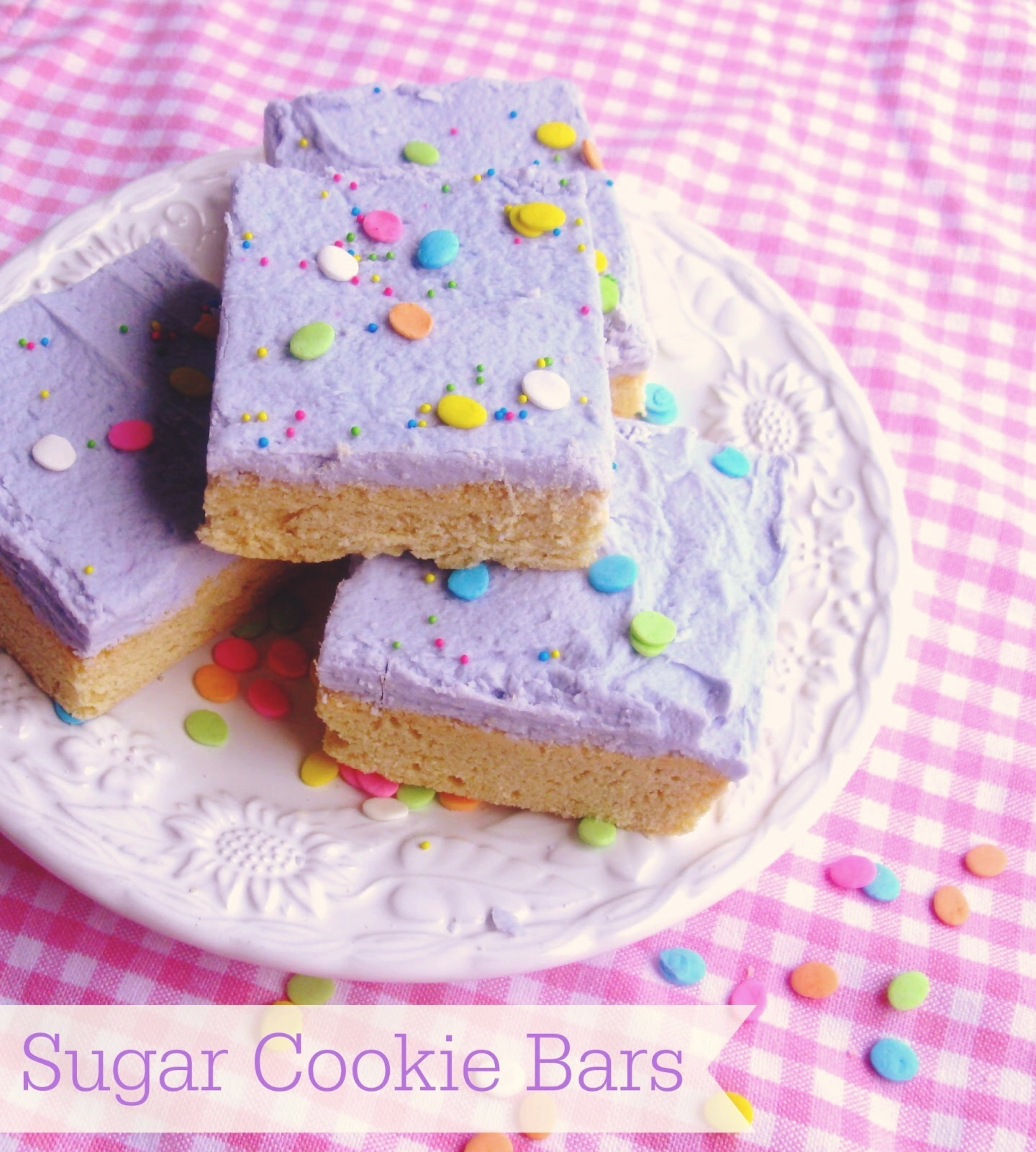 sugar cookie bars {the perfect easter cookie}