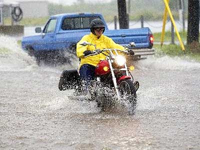 Riding a Motorcycle When It Rains