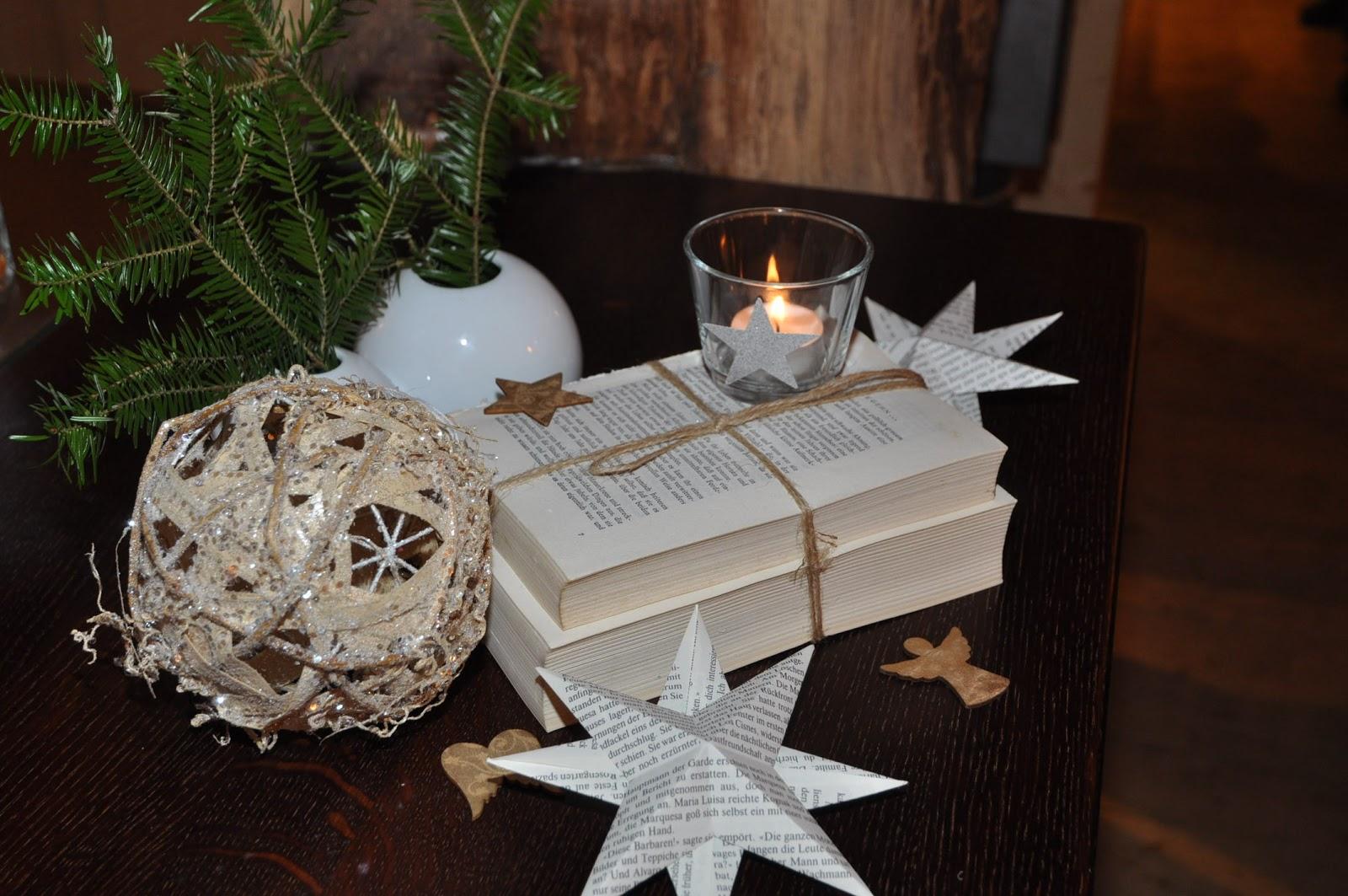 papierkiste tischdekoration weihnachtsfeier. Black Bedroom Furniture Sets. Home Design Ideas