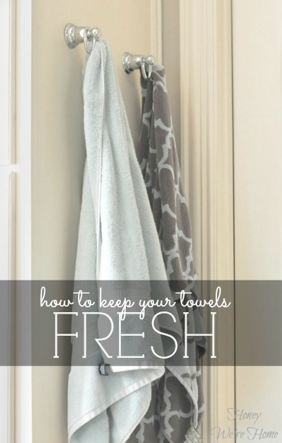 Keeping Bathroom Towels Fresh Honey We 39 Re Home
