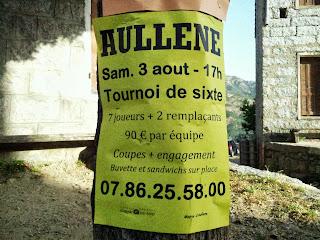 Aullène en Alta Rocca en Corse du sud : tournoi de foot en sixte