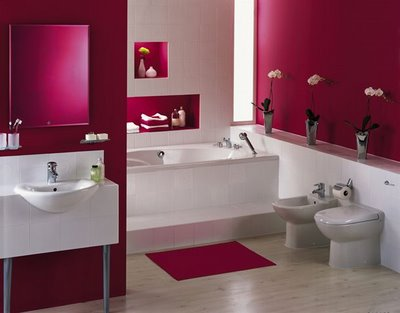 Bathroom Colors on Girl Bathroom Design With Pink Color   Modern Home Minimalist