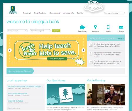 Page d'accueil Umpqua Bank
