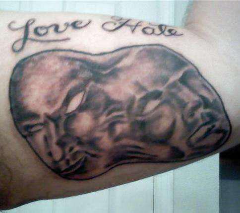 tattoo design gallery 360 love hate tattoo. Black Bedroom Furniture Sets. Home Design Ideas