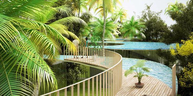 mau bikin kolam renang di atas atap ini contohnya