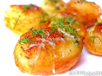 Crochete de cartofi cu branza reteta