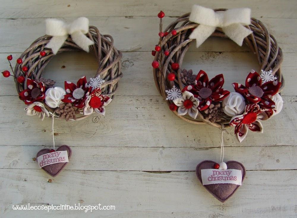 Le cose piccinine buone feste - Ghirlande per porte natalizie ...