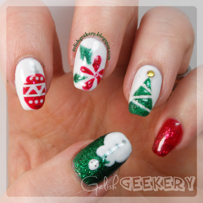 Gelish Christmas Nails