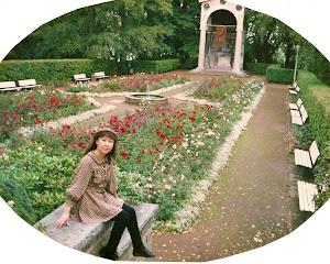 Aachen的玫瑰园。节假日这里坐满了休闲的人。