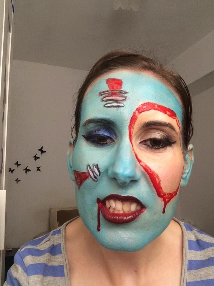 Maquillaje de halloween - Bloody Smurf