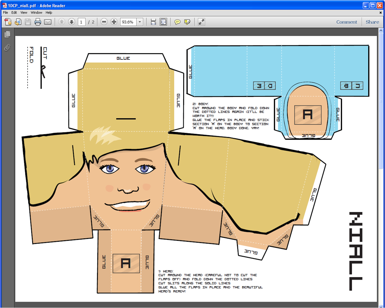 One Direction Paper Dolls Printable Template