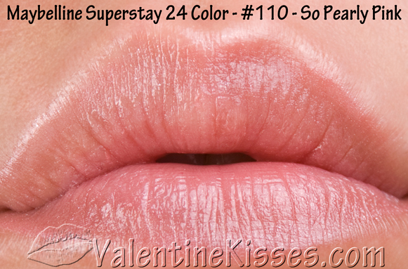 Valentine kisses maybelline superstay 24 hour lipcolor swatches review