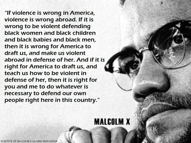 MalcolmxQuotes About Love : MalcolmxQuotes On Violence Malcolmxwas a great man--not