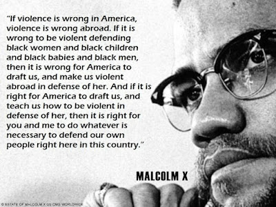 malcolm x violence is wrong - war draft quote