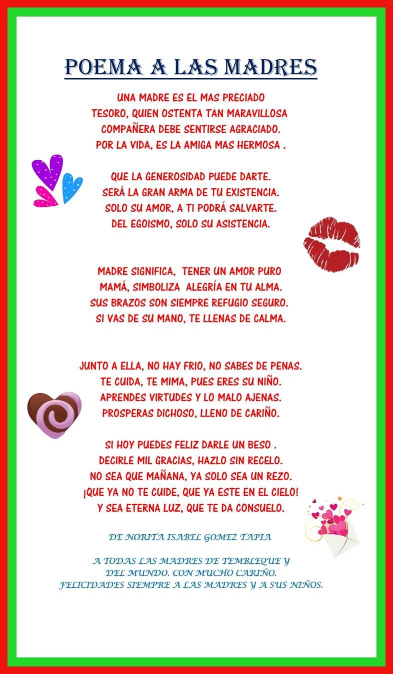 Gracias Madre Poemas todo tembleque: poemas desde tembleque por el día de la madre.