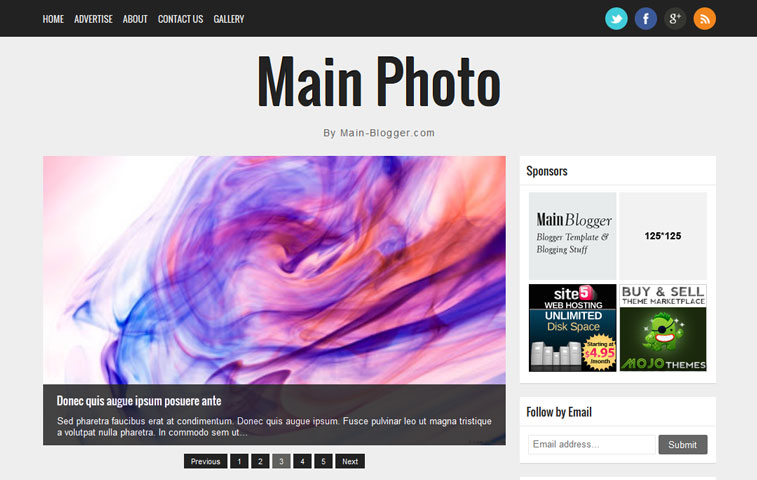screenshot main photo responsive blogger template