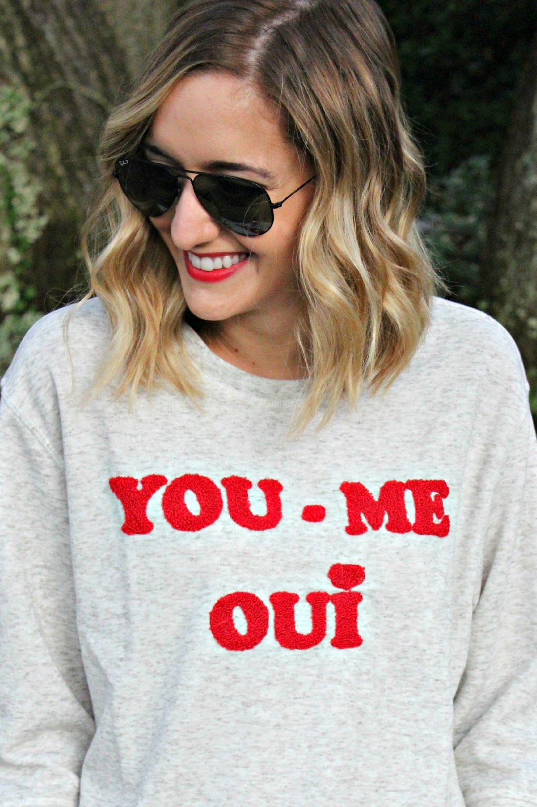 zoe karssen you me oui sweatshirt