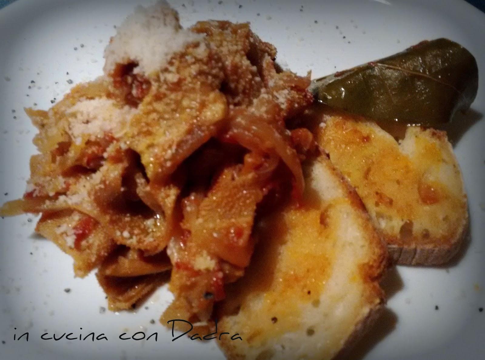 stracotto di centopelli (trippa) alla cipolla e parmigiano