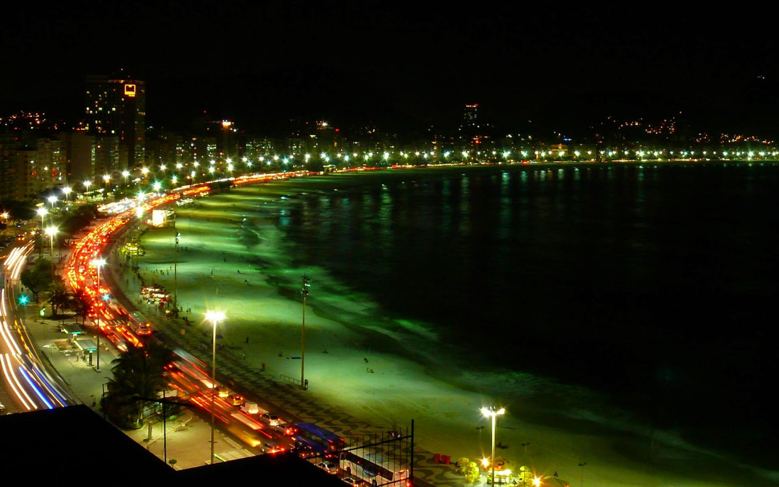 Rio Beach at Night