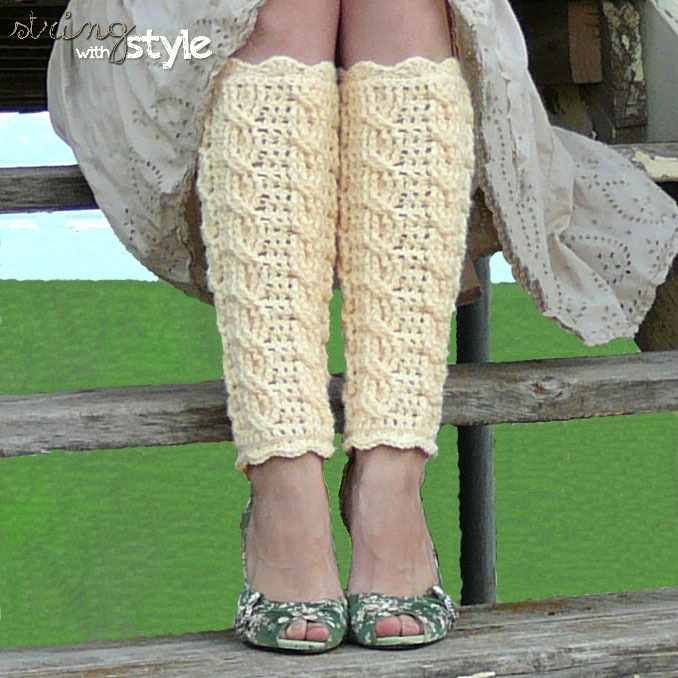 String With Style Cables Of Love Legwarmers