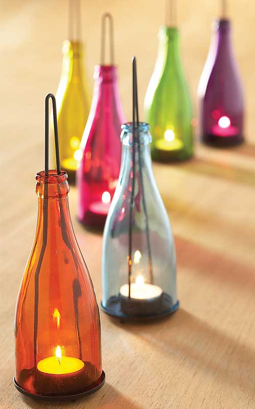 Glass Bottles Upcycled Repurposed As Home Decor